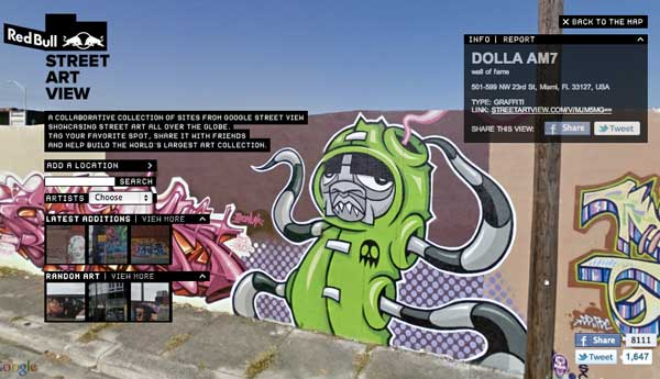 Street art view from Red Bull and Google Street View
