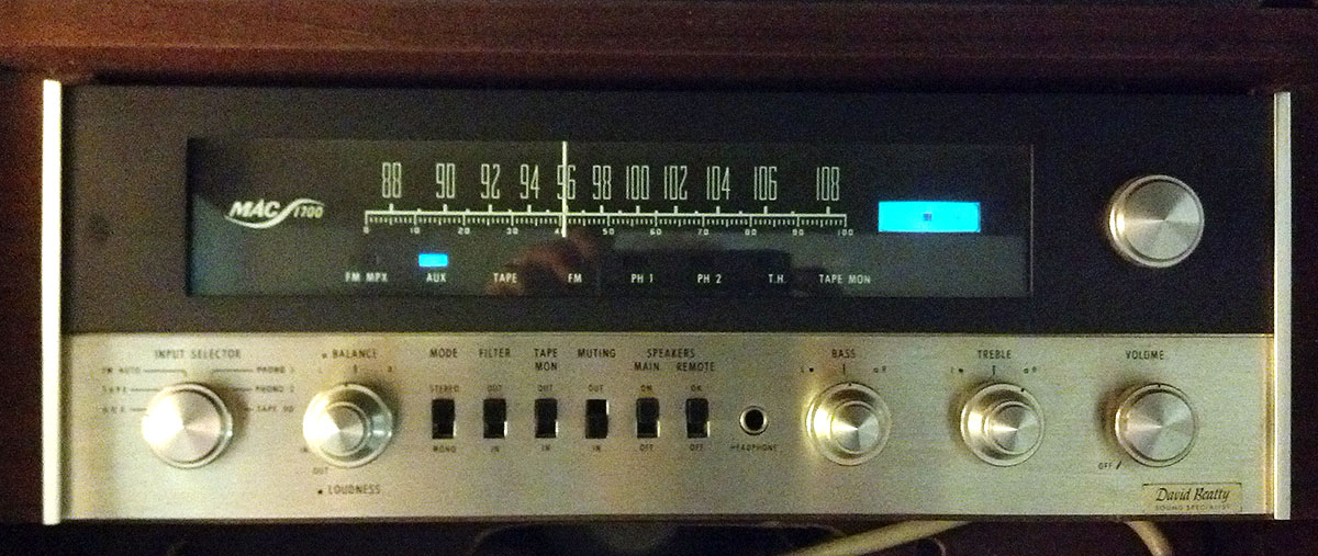 McIntosh Mac 1700 Receiver Preamp With Tubes
