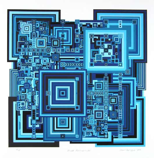 Blue Recursive 13x19 print