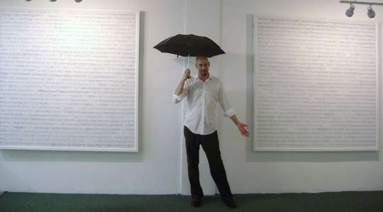William Brovelli in front of Timeline Project