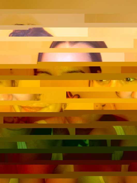 Glitch art photo pool