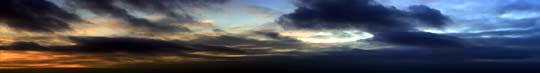 slit scan sunset