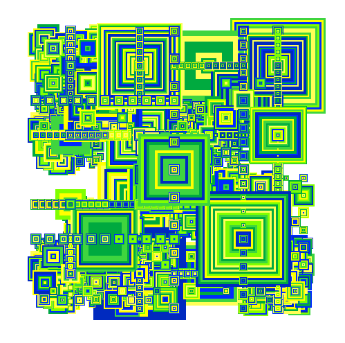 hilbert curve generative art 2007