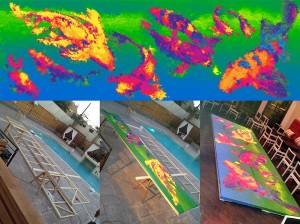 SISU large canvas in progress, custom built canvas frames 20ft wide