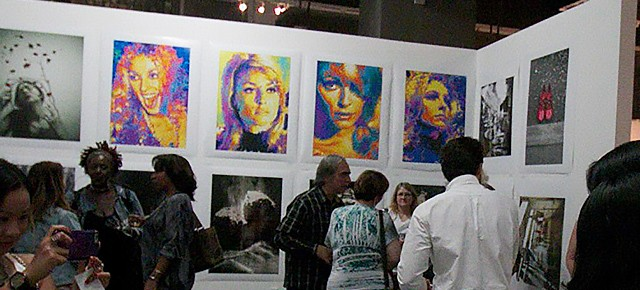 """Particle paintingportraits of Sharon Tate will be in LACDA invitational """"Electron Salon"""" Art Show 2015"""