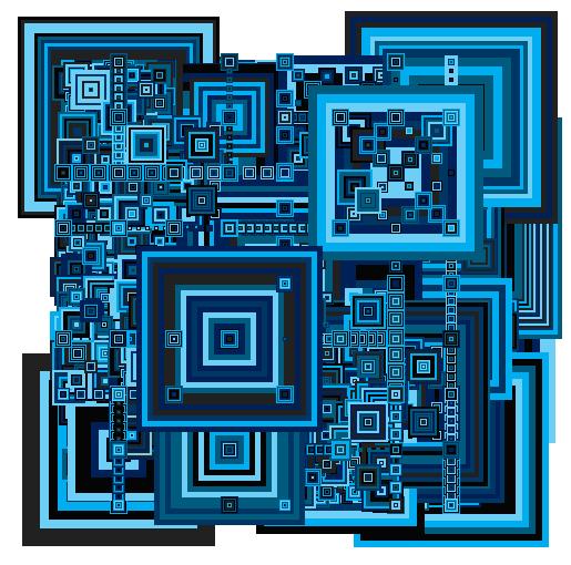 Blue Recursive 11/1/2007 for www.nanohedron.com