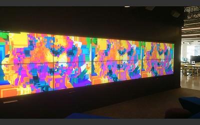 Sharon Tate video art installed