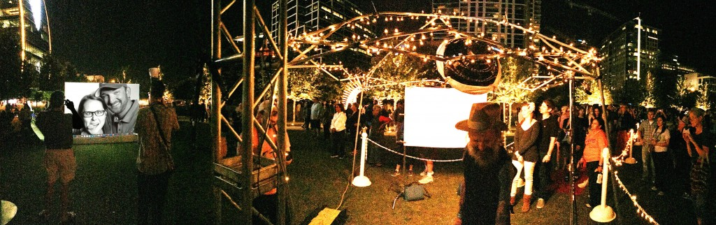 "Panorama of our installation ""in Harmony"" at Dallas Aurora 2015"