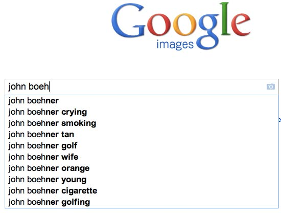 Google search for John Boehner